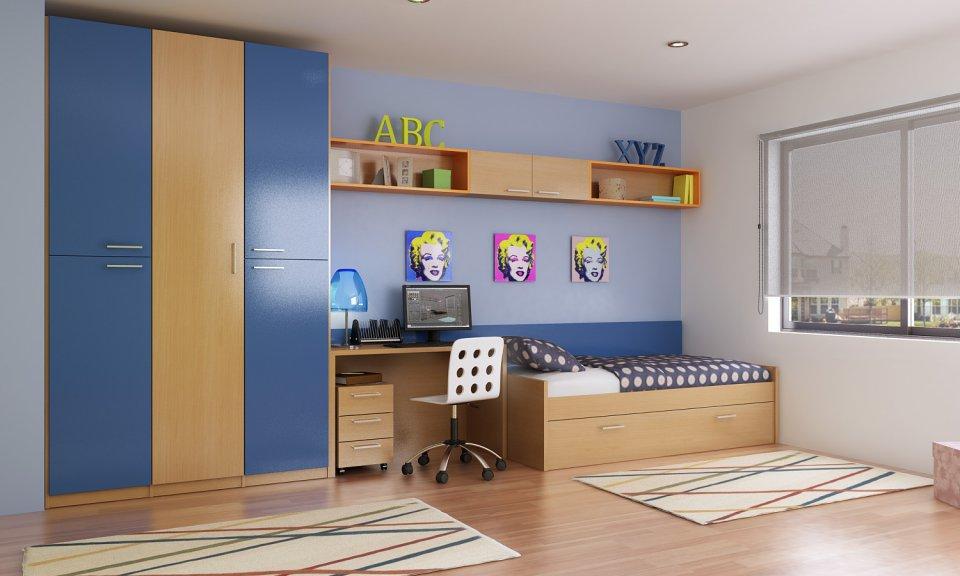 El azul en la decoraci n de dormitorios 3p mobel 3p mobel - Colores para pintar habitacion juvenil ...