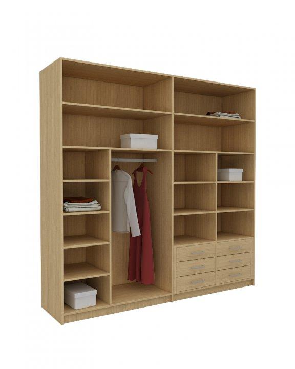 Dise a tu armario por fuera y por dentro 3p mobel 3p mobel for Distribucion de armarios empotrados por dentro